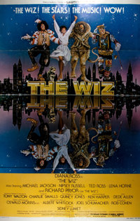 [Movie Posters]. Group of Three Posters Advertising Plays and Movies. Includes The Wiz (1978)