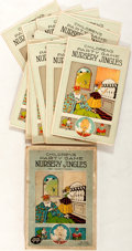 Miscellaneous:Gaming Collectibles, [Children's Party Game]. Nursery Jingles. Series of 11 identicalcards with fill-in-the-black questions (includes solution c...