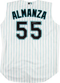 Baseball Collectibles:Uniforms, 2001-03 Armando Almanza Game Worn Florida Marlins ...