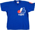 Baseball Collectibles:Uniforms, 1982-83 Al Oliver Montreal Expos Batting Practice Game Worn Jersey. ...