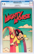 "Golden Age (1938-1955):Cartoon Character, Mighty Mouse #5 (#1) Davis Crippen (""D"" Copy) pedigree (St. John,1947) CGC FN/VF 7.0 Cream to off-white pages...."