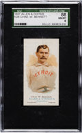 Baseball Cards:Singles (Pre-1930), 1887 N28 Allen & Ginter Chas. W. Bennett SGC 88 NM/MT 8 - PopOne, None Higher! ...