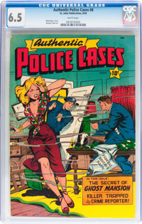 Authentic Police Cases #8 (St. John, 1950) CGC FN+ 6.5 White pages