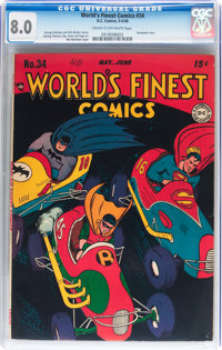 World's Finest Comics #34 (DC, 1948) CGC VF 8.0 Cream to off-white pages