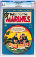 Golden Age (1938-1955):War, Tell it to the Marines #6 Cosmic Aeroplane pedigree (TobyPublishing, 1953) CGC FN- 5.5 Cream to off-white pages....
