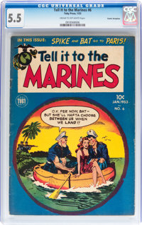 Tell it to the Marines #6 Cosmic Aeroplane pedigree (Toby Publishing, 1953) CGC FN- 5.5 Cream to off-white pages