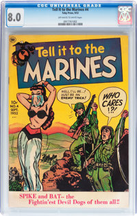 Tell it to the Marines #4 (Toby Publishing, 1952) CGC VF 8.0 Off-white to white pages