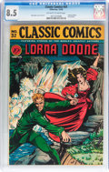 Golden Age (1938-1955):Classics Illustrated, Classic Comics #32 Lorna Doone (Gilberton, 1946) CGC VF+ 8.5Off-white to white pages....