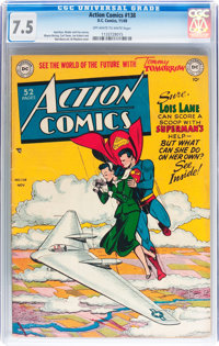 Action Comics #138 (DC, 1949) CGC VF- 7.5 Off-white to white pages