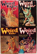 Pulps:Horror, Weird Tales Group (Popular Fiction, 1934-37) Condition: AverageVG/FN.... (Total: 7 Items)