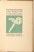 Books:Social Sciences, [Grabhorn Press]. John Cowper Powys. SIGNED/LIMITED.Psychoanalysis and Morality. San Francisco: Jessica Colbert(Gr...