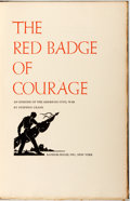 Books:Americana & American History, [Grabhorn Press]. Valenti Angelo, illustrator. SIGNED/LIMITED.Stephen Crane. The Red Badge of Courage. New York: Ra...