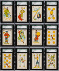 Non-Sport Cards:Sets, 1928 (Spain) Cine Manual Playing Cards Complete Set (48) - #1 onthe SGC Set Registry....