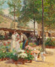 VICTOR GABRIEL GILBERT (French, 1847-1933) Paris, Place de la République Oil on canvas 25-3/4 x 21-1/4 inches (65...