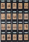 "Non-Sport Cards:Sets, Very Rare Circa 1890's N559 Lake Erie ""State Governors"" (35) - TheMost Complete Collection Known to the Hobby!..."
