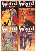 Pulps:Horror, Weird Tales Group (Popular Fiction, 1937) Condition: Average VG....(Total: 6 Comic Books)