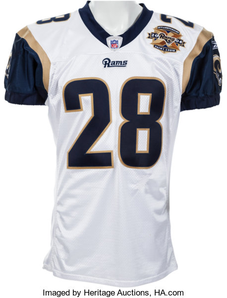 new concept 59516 67622 2004 Marshall Faulk Game Worn St. Louis Rams Jersey - Four ...