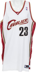 Basketball Collectibles:Uniforms, 2003-04 LeBron James Game Worn Cleveland Cavaliers RookieJersey....