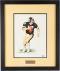 Football Collectibles:Others, 2001 Terry Bradshaw Signed Original Daniel Smith Artwork. ...