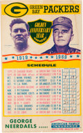 Football Collectibles:Others, 1969 Green Bay Packers Promotional Broadside - Lambeau and Bengston....