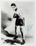 Autographs:Baseballs, 1960's Joe Louis & Muhammad Ali Signed Photographs....