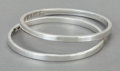 Silver Smalls:Other , A PAIR OF ANTONIO PINEDA MEXICAN SILVER BANGLE BRACELETS. AntonioPineda, Taxco, Mexico, circa 1970. Marks: (Antonio-crown),...(Total: 2 Items)