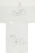 Animation Art:Production Drawing, Walt Disney's Lady and the Tramp Consumer Product OriginalArt Group (1970s).... (Total: 2 Items)