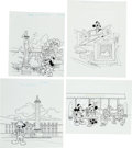 "Animation Art:Production Drawing, Walt Disney's ""Mickey Mouse and Friends"" French CollectorStamp Consumer Product Original Art Group (1970-80s).... (Total: 15Items)"