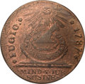 Colonials, 1787 1C Fugio Cent, STATES UNITED, 4 Cinquefoils, Pointed Rays MS64 Red and Brown NGC. N. 12-X, W-6820, R.3. ...