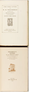 Books:Biography & Memoir, William Makepeace Thackeray. Letters to an American Family.New York: The Century Co., 1904. First trade edition. [t... (Total:2 Items)