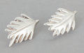 Silver Smalls:Other , A PAIR OF HÉCTOR AGUILAR MEXICAN SILVER EARRINGS. Héctor Aguilar,Taxco, Mexico, circa 1943-1948. Marks: HA (conjoined),...(Total: 2 Items)