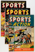 Golden Age (1938-1955):Miscellaneous, Sports Action Group (Atlas, 1950-52) Condition: Average VG-.... (Total: 9 Comic Books)