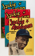 Golden Age (1938-1955):Non-Fiction, Jackie Robinson #1-6 Group (Fawcett Publications, 19) Condition:Average VG+.... (Total: 6 Comic Books)