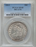 Bust Half Dollars: , 1813 50C 50C/UNI XF45 PCGS. PCGS Population (23/54). NGC Census:(12/41). Mintage: 1,241,903. Numismedia Wsl. Price for pro...