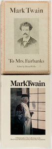 Books:Reference & Bibliography, [Bibliography]. [Mark Twain]. A Bibliography of the Collectionsof the Mark Twain Memorial and the Stowe-Day Foundation ... (Total:2 Items)