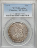 Bust Half Dollars, 1819 50C -- Cleaning -- PCGS Genuine. XF Details. NGC Census:(33/308). PCGS Population (61/324). Mintage: 2,208,000. Numis...
