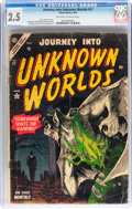 Golden Age (1938-1955):Horror, Journey Into Unknown Worlds #27 (Atlas, 1954) CGC GD+ 2.5 Off-whiteto white pages....