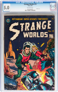 Golden Age (1938-1955):Science Fiction, Strange Worlds #19 (Avon, 1955) CGC VG/FN 5.0 Off-white pages....