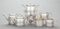Silver Holloware, American:Tea Sets, A SIX PIECE GORHAM SILVER-PLATED TEA AND COFFEE SERVICE. GorhamManufacturing Co., Providence, Rhode Island, 1876. Marks to ...(Total: 6 Items)