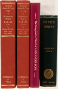 Books:Literature Pre-1900, Alexander Pope. Three Titles by or about Alexander Pope. Includesmodern copies of both his translation of The Iliad and...(Total: 4 Items)