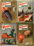 Books:Science Fiction & Fantasy, [Pulps]. Four Issues of Wonder Stories Quarterly. Stellar Publishing, [1929-1930]. Publisher's printed wrappers. One... (Total: 4 Items)