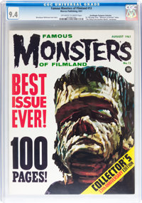 Famous Monsters of Filmland #13 Don/Maggie Thompson Collection pedigree (Warren, 1961) CGC NM 9.4 Off-white to white pag...