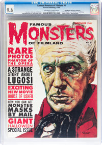 Famous Monsters of Filmland #9 Don/Maggie Thompson Collection pedigree (Warren, 1960) CGC NM+ 9.6 Off-white to white pag...