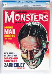 Famous Monsters of Filmland #15 Don/Maggie Thompson Collection pedigree (Warren, 1962) CGC VF+ 8.5 White pages