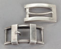 Silver Smalls:Other , TWO ANTONIO PINEDA MEXICAN SILVER BUCKLES . Antonio Pineda, Taxco,Mexico, circa 1950. Marks: (Antonio-crown), SILVER, HEC...(Total: 2 Items)