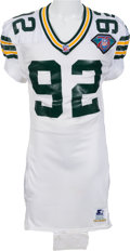 Football Collectibles:Uniforms, 1994 Reggie White Game Worn Green Bay Jersey - Video/Photomatched to 10/20 and 11/20 Games....