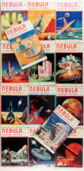 Books:Science Fiction & Fantasy, [Pulps]. Fourteen Issues of Nebula Science Fiction. Crownpoint Publications/Withy Grove Press, [1952-1957]. Original... (Total: 14 Items)