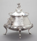 Silver Holloware, American:Bowls, A WILCOX SILVER-PLATED COVERED FOOTED TUREEN . Wilcox Silver PlateCo., Meriden, Connecticut, circa 1890. Marks: WILCOX SI...