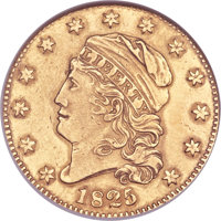 1825/1 $5 -- Repaired, Whizzed -- ANACS. AU Details, Net VF30. BD-1, R.5+....(PCGS# 8133)