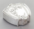 Other:American, A DERBY SILVER-PLATED JEWELRY BOX WITH HINGED LID AND KEY. DerbySilver Co., Derby, Connecticut, circa 1880. Marks: DERBY ...